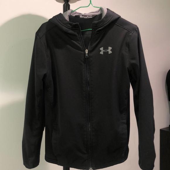 Black Under Armour Coldgear zip jacket with hood